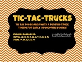 Firetruck Articulation Tic Tac Toe for Speech Therapy