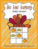 Tic Tac Turkey math version