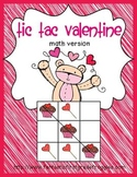 Tic Tac Valentine- math version