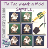 Tic Tac Whack a Mole!  Chemistry Game FREE SAMPLE!
