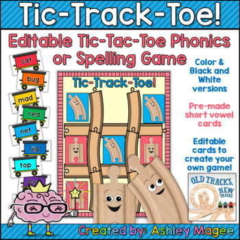 Tic-Track-Toe! Phonics or Spelling Game Supplement for Old Tracks New Tricks