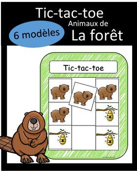 Tic-tac-toe - Animaux de la forêt