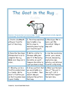 Tic-tac-toe The goat in the rug