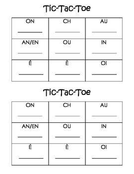 Tic-tac-toe sounds (French)