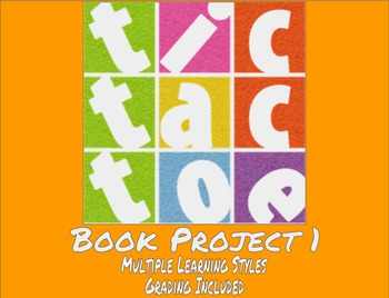 TicTacToe Book Project 1 - Multiple Learning Styles - Grading Included - MS / HS