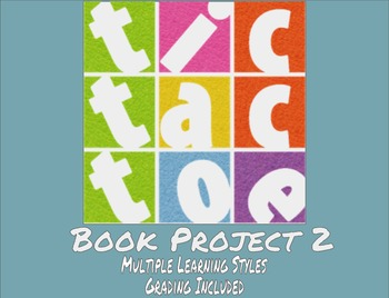 TicTacToe Book Project 2 - Multiple Learning Styles - Grading Included - MS / HS