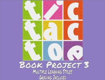 TicTacToe Book Project 3 - Multiple Learning Styles - Grading Included - MS / HS