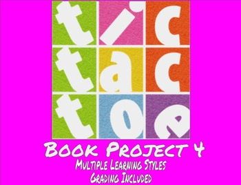 TicTacToe Book Project 4 - Multiple Learning Styles - Grading Included - MS / HS