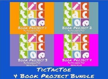 TicTacToe Book Project - 4 Project Bundle - MS / HS