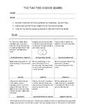 TicTacToe Book Report Form