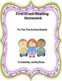 TicTacToe Reading Homework Boards