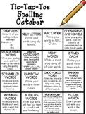 TicTacToe Spelling Homework