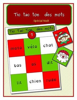 TicTacToe des mots- spécial Noël