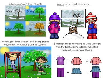Winter Clothing Tick Tack Toes: Social Narrative & Game PowerPoint