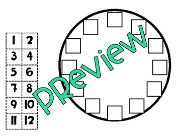 Tick Tock Build A Clock (A Math Craftivity)
