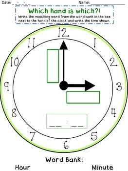 Tick Tock, Clock! Assessment/Activity