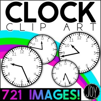 Tick-Tock Clock Clip Art - 721 Clocks - Clock Image for EVERY Minute!