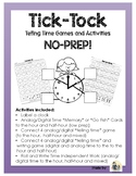 Tick Tock Clock Time Telling Games, memory, connect 4, go