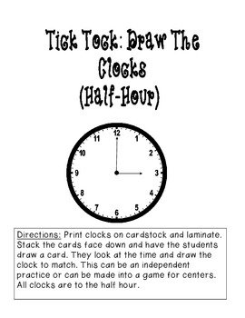 Tick Tock: Draw the Clocks