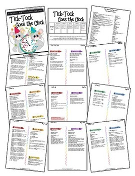 Tick Tock Goes The Clock (5-day Thematic Unit) Includes Patterns and Printables