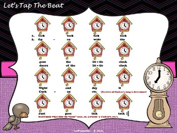 Tick Tock Goes the Little Clock: A Sol-La-Mi Circle Game Song - POWER-POINT Ed.