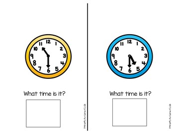 Tick Tock, It's Time to Check the Clock! (Two Mini Books on telling time)
