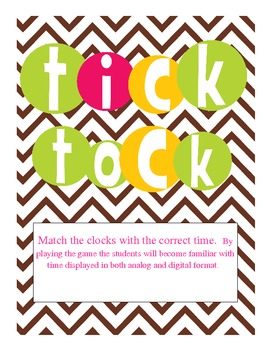 Tick Tock- Match the clocks with the correct time