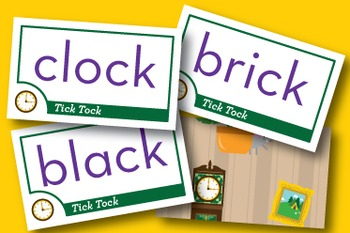 Tick Tock Mixed Vowel Word Families Phonics Game