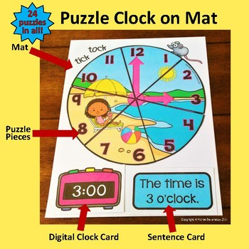 Tick Tock Puzzle Clock - 24 SUMMER FUN clock puzzles