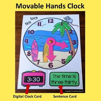 Tick Tock Puzzle Clock - 24 SUMMER FUN clock puzzles