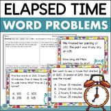 Elapsed Time Task Cards & Assessment (Plus Digital Option)