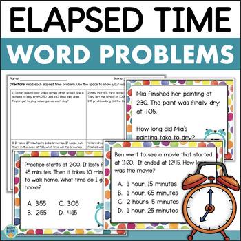 Elapsed Time Task Cards & Assessment