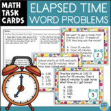 Elapsed Time Word Problems Task Cards & Assessment