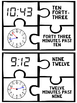 Tick Tock! Time to the Minute Puzzles- Math Center