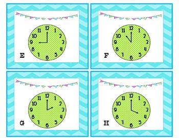 Tick, Tock, Where's the Clock? Write the Room Time to the HOUR  (Freebie)