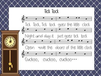 Tick Tock: a sol-la-mi song for partner dance and rhythm