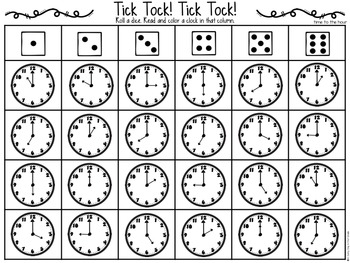 Tick Tock {time to the hour & half hour}