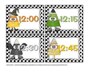 Tick-or-Tock Candy Corn Clocks