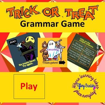 Tick or Treat Sentence Game