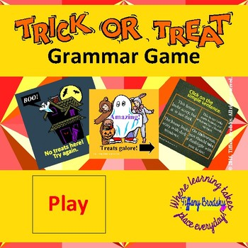 Tick or Treat Sentence Game