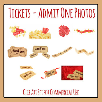 Ticket / Admit One Ticket Photos Clip Art For Commercial Use