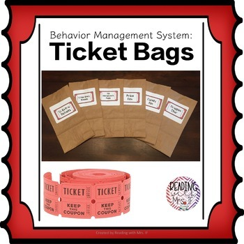 Ticket Bags Classroom Behavior Management System
