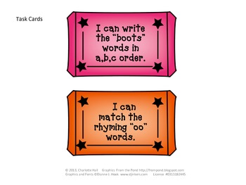 """Ticket Booth Digraphs - Working with the Vowel Sounds of """"oo"""""""