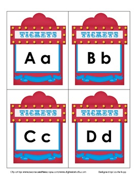 Ticket Booth Word Wall Set -Free-