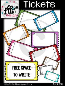 Ticket Clip Art ~Dots of Fun Designs~