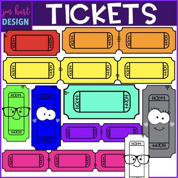 Ticket Clip Art- Rainbow Tickets Clipart {jen hart Clip Art}