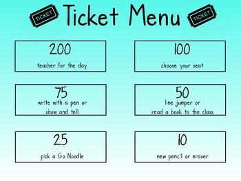 Ticket Menu