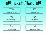 Ticket Menu
