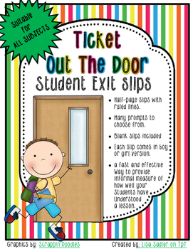 Ticket Out The Door - All Subject Exit Slips