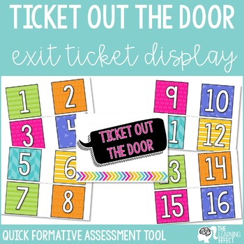 Ticket Out the Door Board